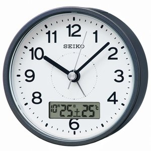 SEIKO セイコー 電波目覚まし時計/カレンダー・温度表示付き グレーメタリック色 KR333N(取寄せ/代引不可)|ajewelry