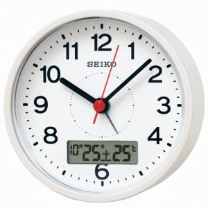 SEIKO セイコー 電波目覚まし時計/カレンダー・温度表示付き 白パール色 KR333W(取寄せ/代引不可)|ajewelry