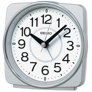 SEIKO セイコー 電波目覚まし時計/銀色メタリック色 KR335S(取寄せ/代引不可)|ajewelry