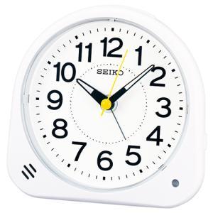 SEIKO(セイコー) クオーツ 目覚まし時計 夜でも見える自動点灯機能/ホワイト KR510W(取)|ajewelry