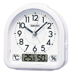 SEIKO(セイコー) クオーツ 目覚まし時計 温湿度表示付き 白パール/KR512W(取)|ajewelry