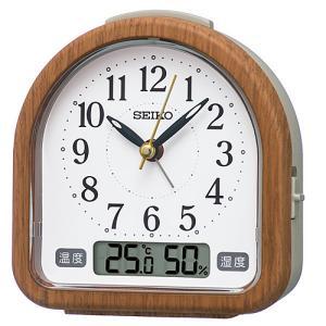 SEIKO(セイコー) クオーツ 目覚まし時計 温湿度表示付き 茶木目模様/KR513B(取)|ajewelry
