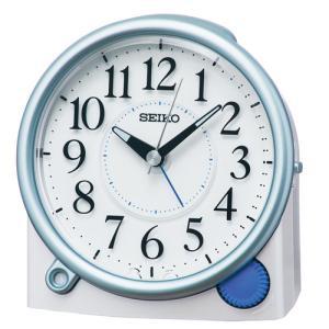 SEIKO(セイコー) クオーツ 目覚まし時計 夜でも見える 暗所自動点灯ライト/白パール KR515L(取)|ajewelry