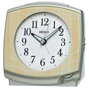 SEIKO(セイコー) クオーツ 目覚まし時計/薄茶木目模様 KR516A(取)|ajewelry