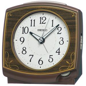 SEIKO(セイコー) クオーツ 目覚まし時計/濃茶木目模様 KR516B(取)|ajewelry