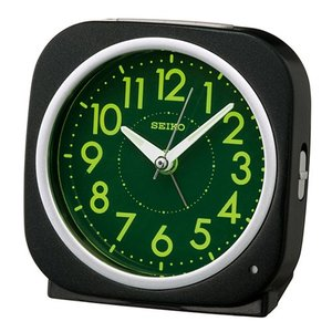 SEIKO セイコー 目覚まし時計/自動点灯タイプ 黒メタリック色 KR889K(取寄せ/代引不可)|ajewelry