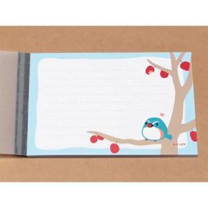 メモ帳/ルリビタキ 赤い実おいしいメモ 野鳥 40枚つづり(取/ギフト不可) ajewelry