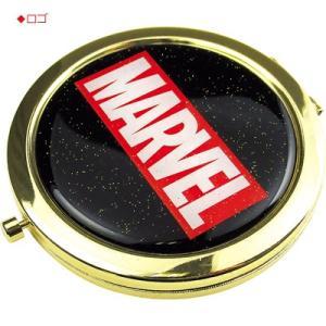 プラスト ティーズファクトリー/MARVEL(マーベル) Wコンパクトミラー 鏡 2面鏡 拡大鏡 ロゴ/キャプテンアメリカ MV-MIRROR(取/ギフト不可)|ajewelry|02
