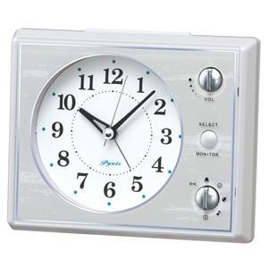 SEIKO(セイコー)/マルチサウンドアラーム 目覚まし時計 メロディ付き 白 NR445W(取寄せ/代引不可)|ajewelry