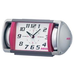 SEIKO(セイコー) クオーツ 目覚まし時計/PYXIS RAIDEN ライデン 大音量ベル音アラーム/ピンク×ホワイト NR447P(取)|ajewelry