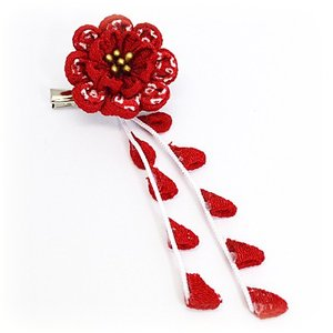 手作り つまみ細工/髪飾り 花 和装小物 ヘアアクセサリー ブローチ コサージュ(代引不可)|ajewelry