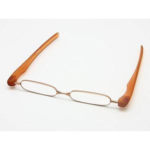 シニアグラス 携帯老眼鏡/Podreader(ポッドリーダー)軽量 5度数 +1.00〜+3.00 コッパー Copper(取)タスク|ajewelry