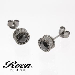 Roen BLACK(ロエン ブラック)/スター ピアス ブラックキュービック シルバー925 チタンポスト ブラックカラー RO-113(取寄せ/代引不可) ajewelry