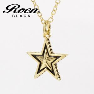 Roen BLACK(ロエン ブラック)/スター 星 ペンダント 真鍮 ゴールドカラー RO-606(取寄せ/代引不可)|ajewelry