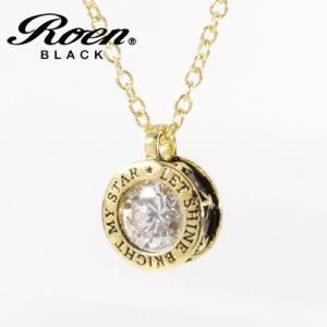 Roen BLACK(ロエン ブラック)/スター 星 クリアキュービック ペンダント 真鍮 ゴールドカラー RO-607(取寄せ/代引不可)|ajewelry