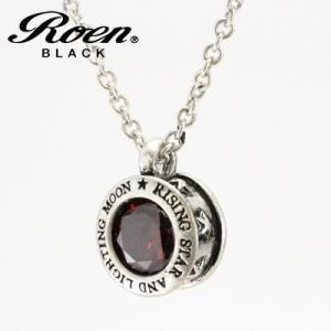 Roen BLACK(ロエン ブラック)/スター 星 レッドキュービック ペンダント 真鍮 シルバーカラー RO-610(取寄せ/代引不可)|ajewelry