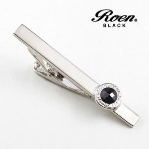 Roen BLACK(ロエン ブラック)/タイバー カットストーン ブラス 真鍮 ブラックキュービック ROT-003(取寄せ/代引不可) ajewelry