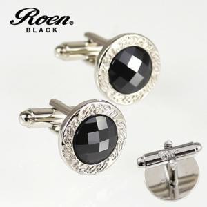 Roen BLACK(ロエン ブラック)/カフス カットストーン ブラス 真鍮 ブラックキュービック ROT-103(取寄せ/代引不可)|ajewelry