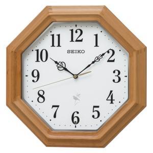 SEIKO(セイコー)  電波掛時計/ナチュラルスタイル 鳥の鳴き声 木枠 天然色木地 八角形 RX216B(取寄せ/代引不可)|ajewelry