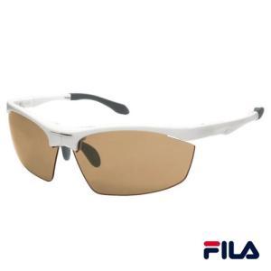 FILA(フィラ) サングラス/コンパクト 折りたたみスポーツグラス/ホワイト×ブラウン SF7701J-3/220086(取)パール|ajewelry