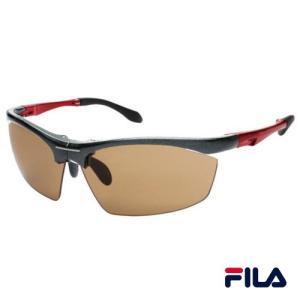 FILA(フィラ) サングラス/コンパクト 折りたたみスポーツグラス/メタリックグレー&レッド×ブラウン SF7701J-5/220088(取)パール|ajewelry