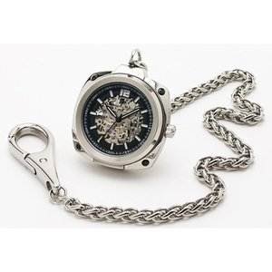 Salvatore Marra(サルバトーレマーラ) メンズウォッチ/2WAY 腕時計 懐中時計 自動巻き ブラック SM18114-SSBK(取寄せ/代引不可)|ajewelry|03