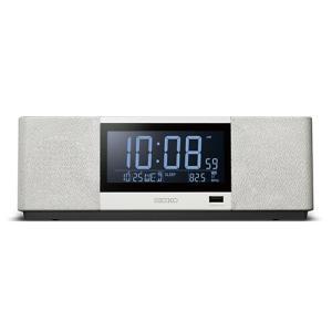 SEIKO(セイコー)マルチサウンドクロック(スピーカークロック)/デジタル目覚まし時計 ラジオ メロディ内蔵/ホワイト SS501A (取)|ajewelry