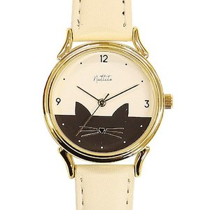 フィールドワーク 腕時計 ウォッチ/ミミー ネコ キャット 猫】/ホワイト ST223-1 WH(取寄せ/代引不可)|ajewelry