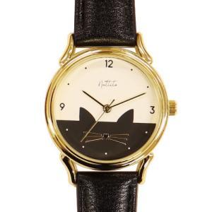 フィールドワーク 腕時計 ウォッチ/ミミー ネコ キャット 猫/ブラック ST223-5 BK(取寄せ/代引不可)|ajewelry