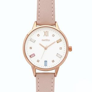 フィールドワーク 腕時計 ウォッチ/ビジュー スワロフスキー/ピンク ST227-3 PI(取)|ajewelry