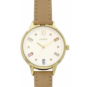 フィールドワーク 腕時計 ウォッチ/ビジュー スワロフスキー/ブラウン ST227-4 BR(取)|ajewelry