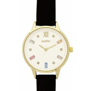 フィールドワーク 腕時計 ウォッチ/ビジュー スワロフスキー/ブラック ST227-5 BK(取)|ajewelry