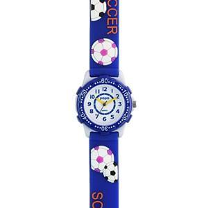サンフレイム キッズウォッチ 子供用/サッカー スポーツ ブルー TCL21-BL(取寄せ/代引不可)|ajewelry