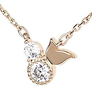 Tirr Lirr ティルリル/キュービック ネックレス シルバー925 ピンクゴールド ヒバリ 小鳥 TNS-106(取寄せ/代引不可)|ajewelry