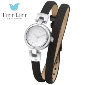 Tirr Lirr(ティルリル) レディスウォッチ/JewelryWatch ジュエリーウォッチ/2重巻きベルト ブラック TWC-005BK(取寄せ/代引不可)|ajewelry