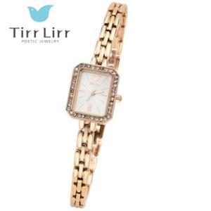 Tirr Lirr(ティルリル) レディスウォッチ/JewelryWatch ジュエリーウォッチ/キュービック ピンクゴールド TWC-102PG(取寄せ/代引不可)|ajewelry