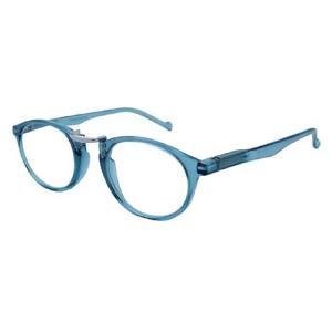 シニアグラス 老眼鏡/VIEW ADVANCE(ヴュー・アドヴァンス) リーディンググラス 3度数 ライトブルー×シルバー VAF-13-2(取寄せ/代引不可)|ajewelry