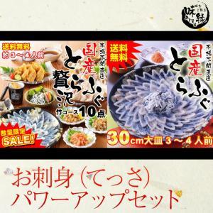国産とらふぐ鍋フルコース豪華10点セット+お刺身(てっさ)30cm大皿 追加セット