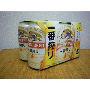 ビール キリン一番搾り 350缶 6本パック|ajima-saketen