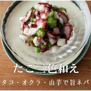 たこ三色和え 300g×4P たこ タコ 蛸 オクラ 山芋 おかず|ajirushishop