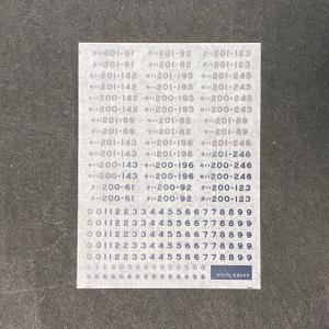 201系電車メタリック車番インレタ明石(1/80スケール) ajisaitei