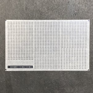 汎用数字インレタ(1000番台2・800番台)(TypeC)|ajisaitei