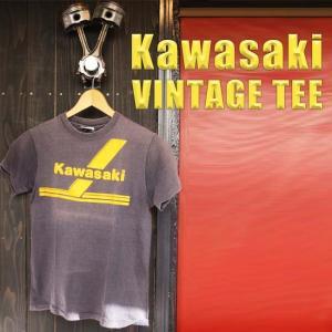 ajito KAWASAKI Trans Am Vintage Tee  カワサキ トランザム ロゴ Tシャツ バイク  古着 バックプリントあり|ajito