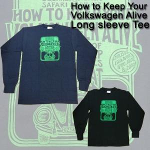 ajito HAPPYEND フォルクスワーゲン ビートル ロングスリーブ Tシャツ HOW TO KEEP YOUR VOLKSWAGEN ALIVE ロンT カットソー デッドストック ビンテージ 車|ajito