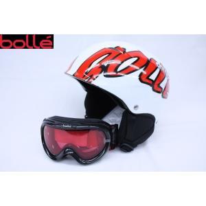 (在庫処分セール) (送料無料) (BOLLE)  ボレー キッズヘルメット&ゴーグルセット ホワイト 子供用 スキー/スノボ/スノーボード/スノーヘルメット/スノーゴーグ|ajmart