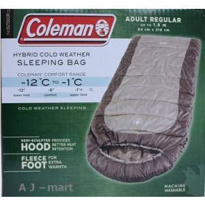 コールマン 寝袋 Coleman 寝袋 マミー型シュラフ  HYBRID COLD WEATHER -12℃まで対応 スリーピングバッグ|ajmart