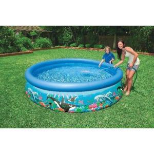 (訳あり) INTEX インテックス オーシャンリーフ・イージーセット プール 305cm×76cm 大型プール 子供 こども用 ファミリー ビニールプール 子供用 屋外プール|ajmart