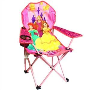 (ディズニー Disney)  プリンセス ユース アームチェア キッズ 折りたたみチェア 子供用/折り畳みチェアー/いす/ BBQ/キャンプ/コンパクトチェア/ポータブル/折|ajmart