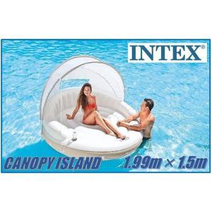 (送料無料) (INTEX インテックス) CANOPY ISLAND キャノピーアイランド プール/ラウンジ/浮き輪/サンシェード/日よけ/ビーチパラソル/ベッド/海水浴/|ajmart