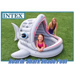 (在庫処分) INTEX インテックス 子供用プール 幼児用 シャーク シェード プール インテックスプール/子供/プール/屋根つき/ビニールプール/家庭用プール/|ajmart